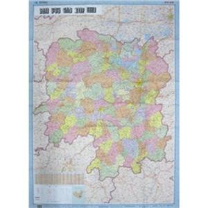 湖南省地图1:80万